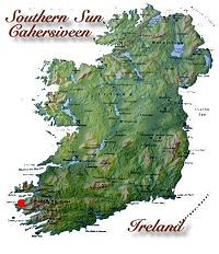 Kaart van Ierland