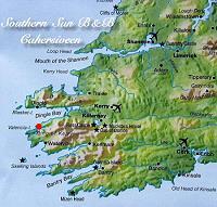 Kaart van zuidwest Ierland