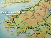 Kaart van het Iveragh schiereiland